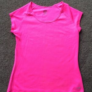 Champion neon pink duo dry athletic shirt
